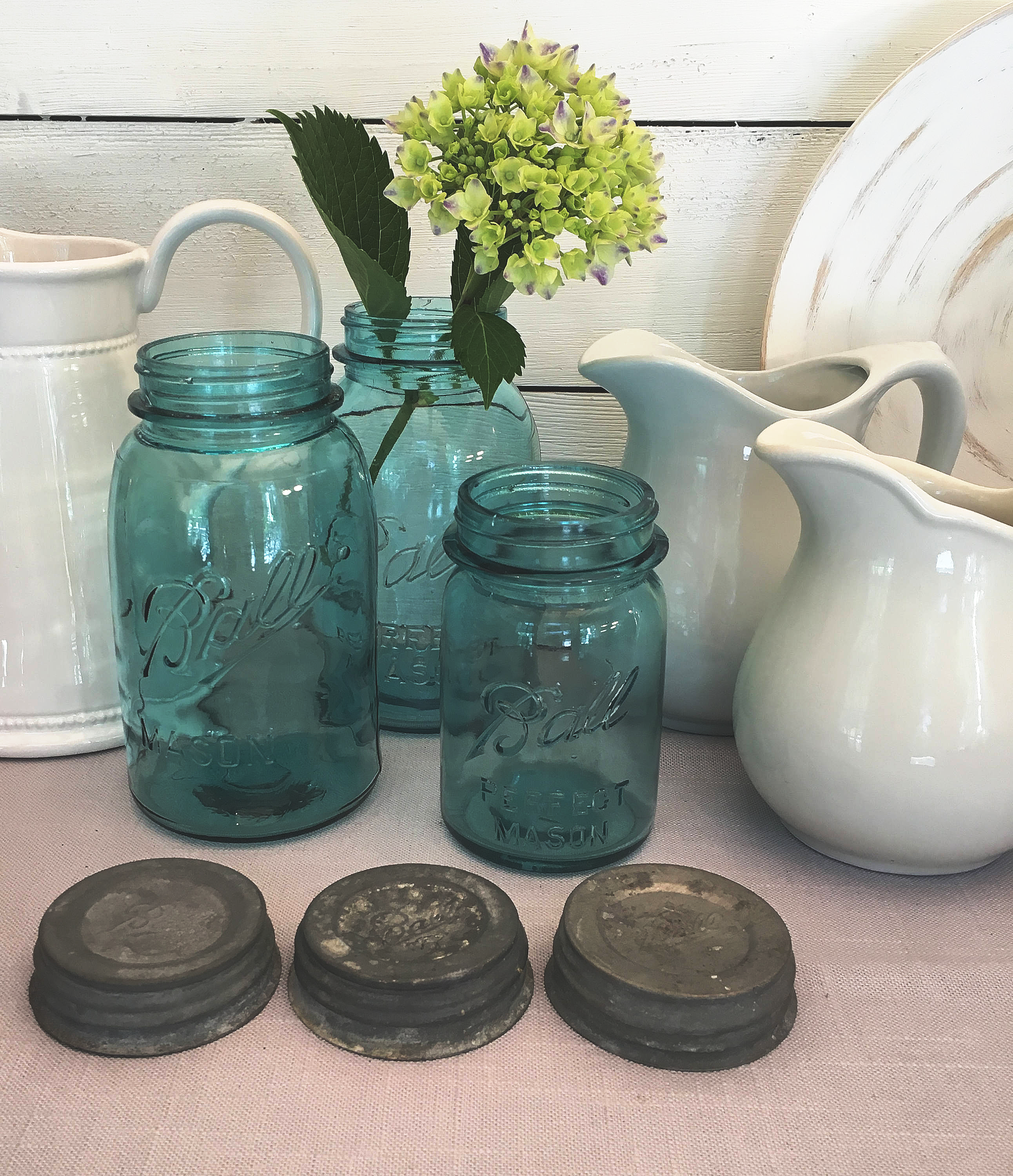 Decorating with antiques: ball jars