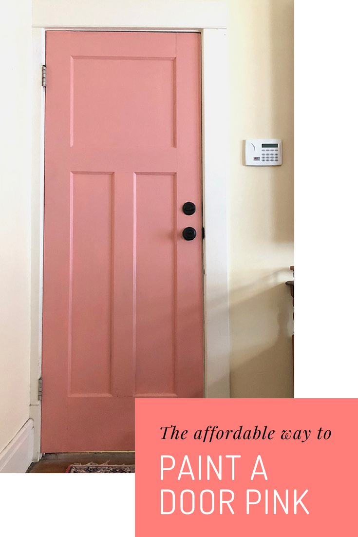 how to paint a door pink