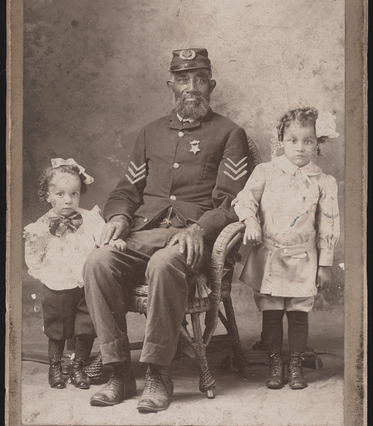 antique photo of african american family during the civil war